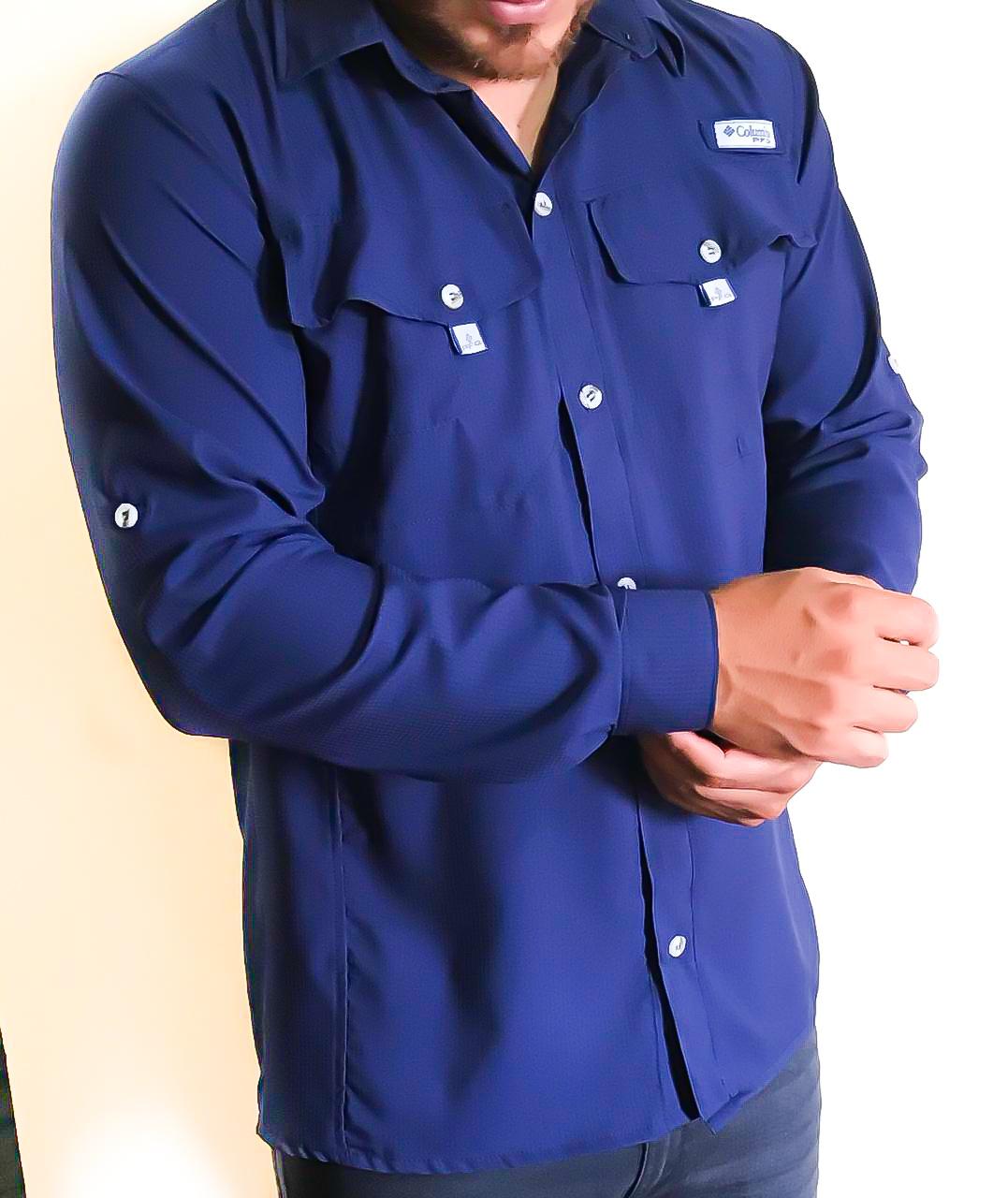 Camisa Tipo Columbia / Manga Larga